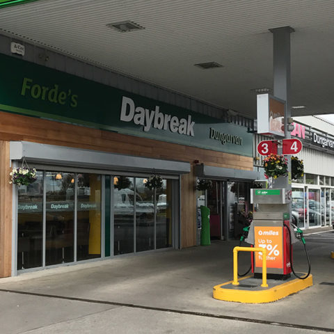 Forecourt at Forde's Daybreak, Dungarvan